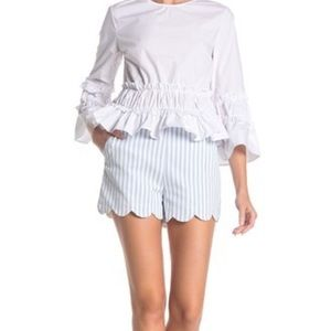 English Factory Scalloped Shorts